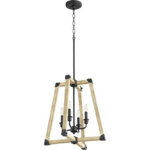 Quorum ALPINE 4LT FOYER CHANDELIER 6789-4-69 Coastal Lighting