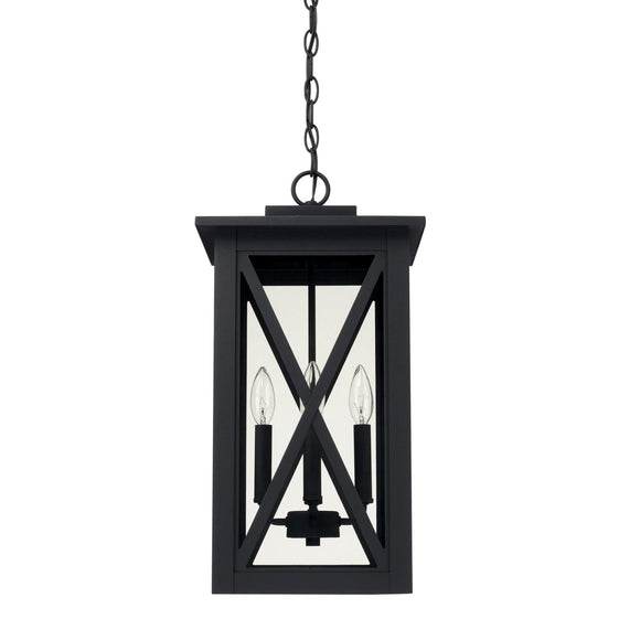 Capital Lighting Avondale Four Light Outdoor Hanging Lantern 926642BK Coastal Lighting