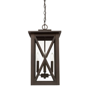 Capital Lighting Avondale Four Light Outdoor Hanging Lantern 926642OZ Coastal Lighting