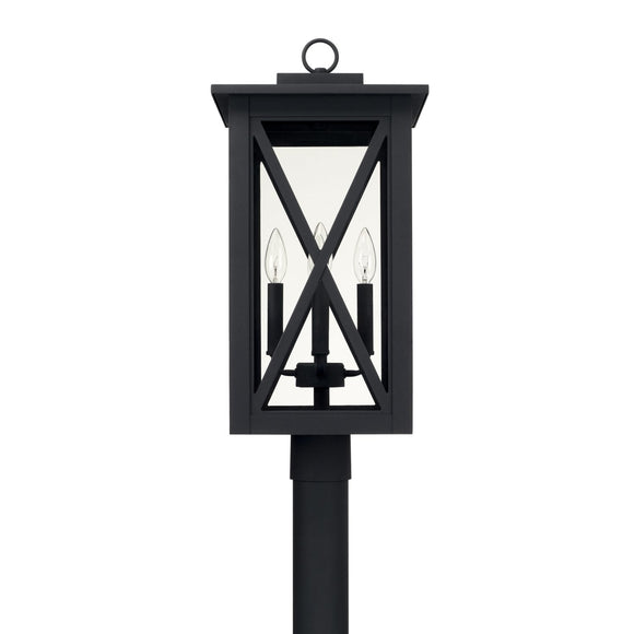 Capital Lighting Avondale Four Light Outdoor Post Lantern 926643BK Coastal Lighting
