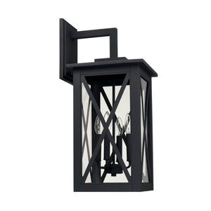 Capital Lighting Avondale Four Light Outdoor Wall Lantern 926641BK Coastal Lighting