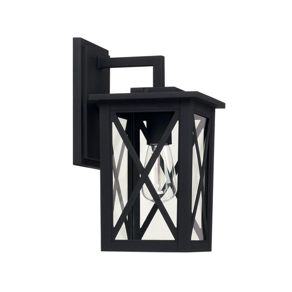 Capital Lighting Avondale One Light Outdoor Wall Lantern 926611BK Coastal Lighting