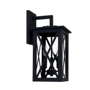 Capital Lighting Avondale Three Light Outdoor Wall Lantern 926631BK Coastal Lighting