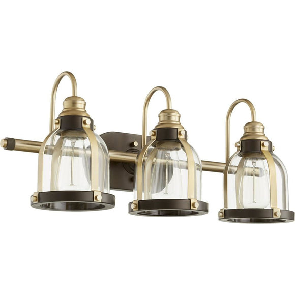 Quorum Banded Dome 3 Light Vanity 586-3-8086 Coastal Lighting