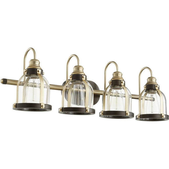 Quorum Banded Dome 4 Light Vanity 586-4-8086 Coastal Lighting
