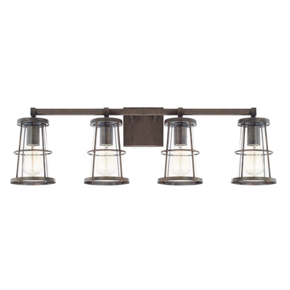 Capital Lighting Beaufort Four Light Vanity Fixture 127441NG Coastal Lighting