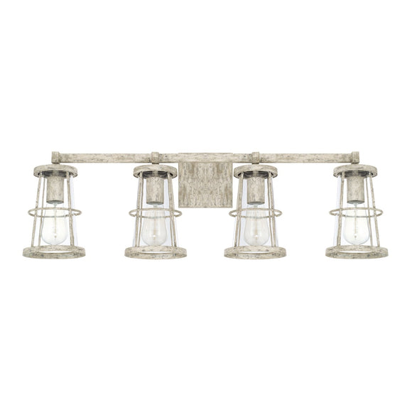 Capital Lighting Beaufort Four Light Vanity Fixture 127441MS Coastal Lighting