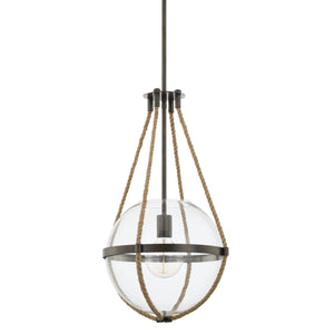 Capital Lighting Beaufort One Light Pendant 327413NG Coastal Lighting