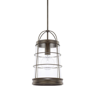 Capital Lighting Beaufort One Light Pendant 327412NG Coastal Lighting