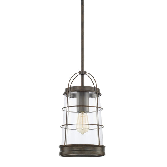 Capital Lighting Beaufort One Light Pendant 327411NG Coastal Lighting
