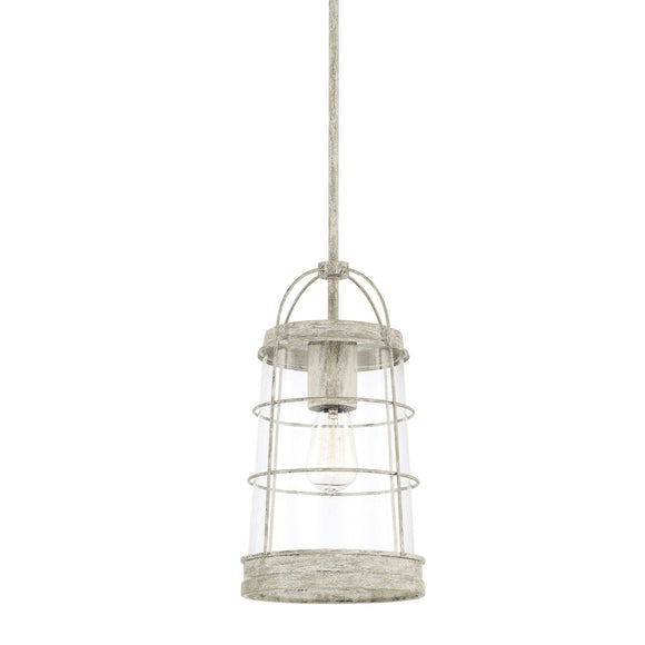 Capital Lighting Beaufort One Light Pendant 327411MS Coastal Lighting