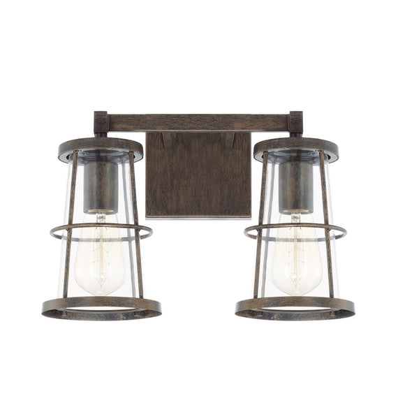Capital Lighting Beaufort Two Light Vanity Fixture 127421NG Coastal Lighting