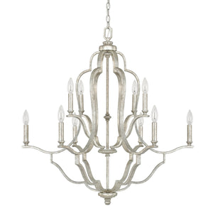 Capital Lighting Blair Ten Light Chandelier 4940AS-000 Coastal Lighting