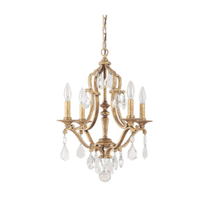 Capital Lighting Blakely Four Light Chandelier 4184AG-CR Coastal Lighting