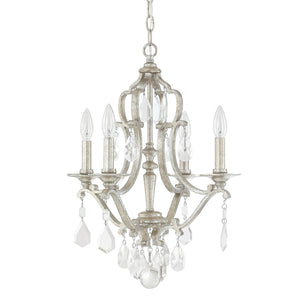 Capital Lighting Blakely Four Light Mini Chandelier 4184AS-CR Coastal Lighting