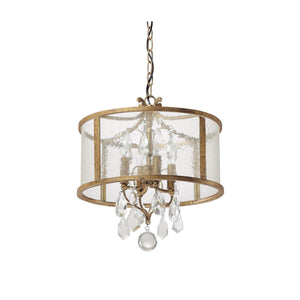 Capital Lighting Blakely Four Light Pendant 9484AG-CR Coastal Lighting