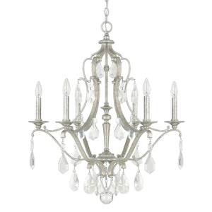 Capital Lighting Blakely Six Light Chandelier 4186AS-CR Coastal Lighting