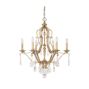 Capital Lighting Blakely Six Light Chandelier 4186AG-CR Coastal Lighting