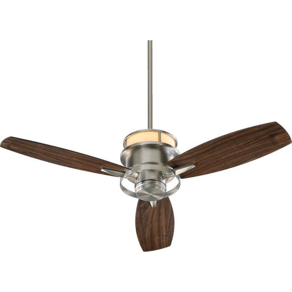 Quorum Bristol 54 Fan 54543-65 Satin Nickel Coastal Lighting