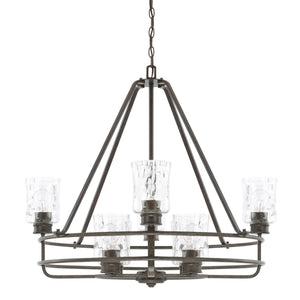 Capital Lighting Bristol Eight Light Chandelier 425081FH-425 Coastal Lighting