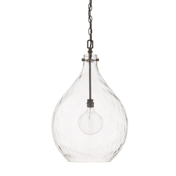 Capital Lighting Bristol One Light Pendant 325011FH Coastal Lighting