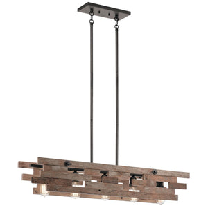 Kichler Cuyahoga Mill Linear Chandelier 44229 AVI Coastal Lighting
