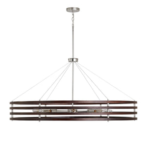 Capital Lighting 8 Light Chandelier 439981DN Coastal Lighting