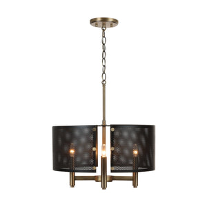 Capital Lighting Dax Four Light Pendant 331241AB Coastal Lighting