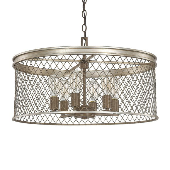 Capital Lighting Eastman Six Light Chandelier 4886SZ Coastal Lighting