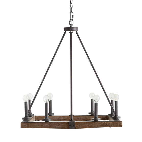 Capital Lighting Eight Light Chandelier 424882IW Coastal Lighting