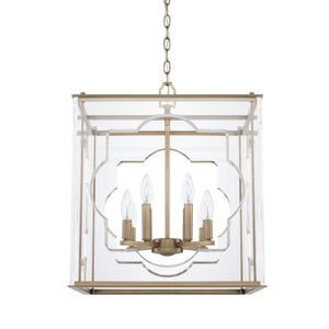 Capital Lighting Eight Light Foyer Chandelier 525681AD Coastal Lighting