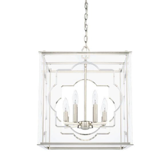 Capital Lighting Eight Light Foyer Chandelier 525681PN Coastal Lighting