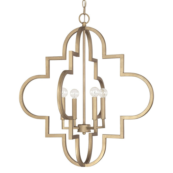 Capital Lighting Ellis Four Light Chandelier 4542BG Coastal Lighting