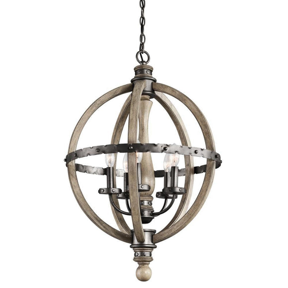 Kichler Evan Sphere Chandelier - 5 light 43324DAG Coastal Lighting