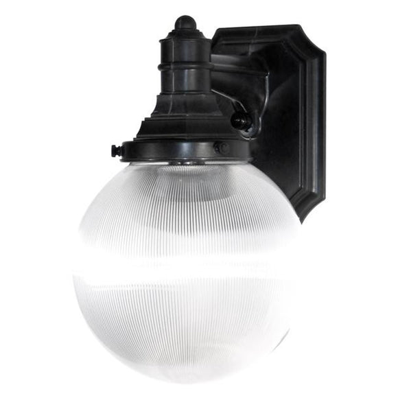 Wave Everstone Non-Corrosive Globe Wall Mount - Companion Size S27VC-BK Blackstone / Clear Prismatic Coastal Lighting