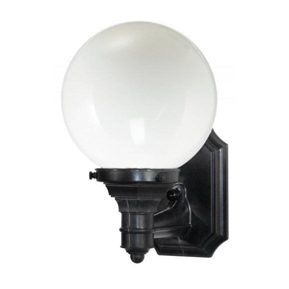 Wave Everstone Non-Corrosive Globe Wall Mount - Companion Size S27SL-BK Blackstone / Opal Coastal Lighting