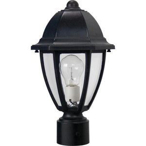 Wave Everstone Non-Corrosive Post Lantern - Companion Size S21T-C-BK Blackstone Coastal Lighting