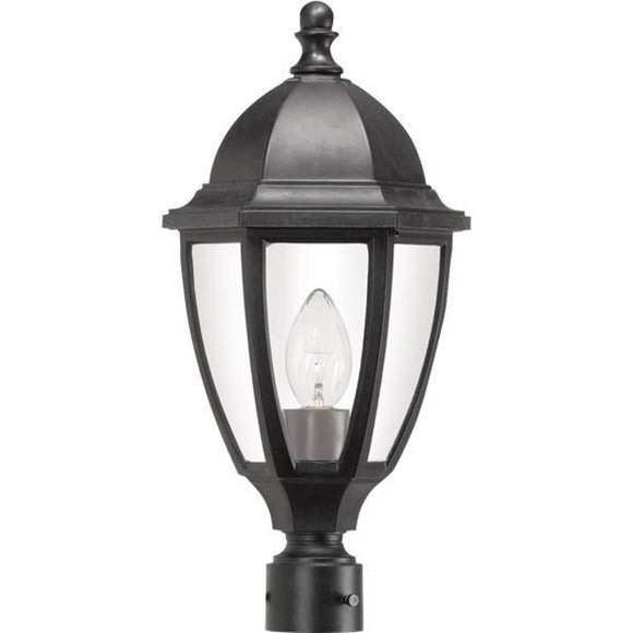 Wave Everstone Non-Corrosive Post Lantern - Full Size S11T-C-BK Blackstone Coastal Lighting