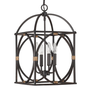 Capital Lighting Four Light Foyer 4521SY Coastal Lighting