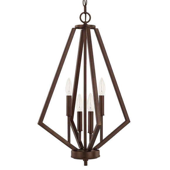 Capital Lighting Four Light Foyer 514441BZ Coastal Lighting
