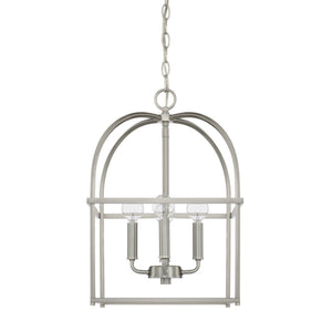 Capital Lighting Four Light Foyer Chandelier 527542BN Coastal Lighting