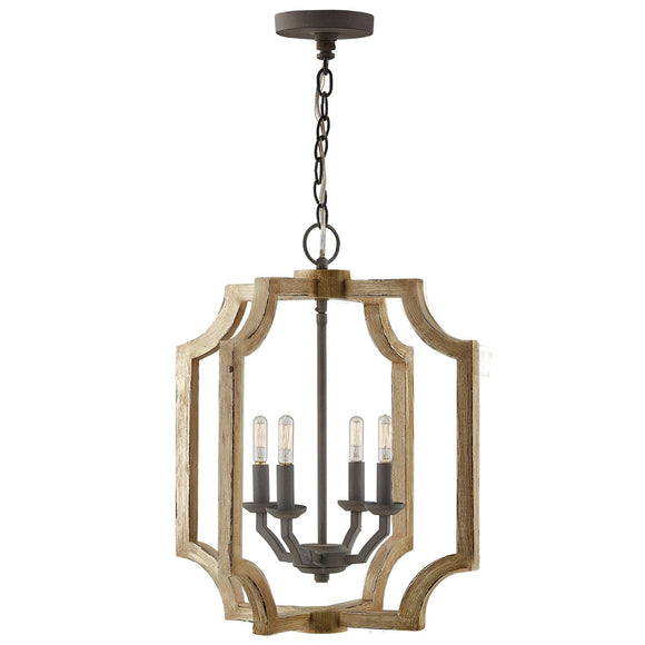 Capital Lighting Four Light Foyer Pendant 530642SS Coastal Lighting