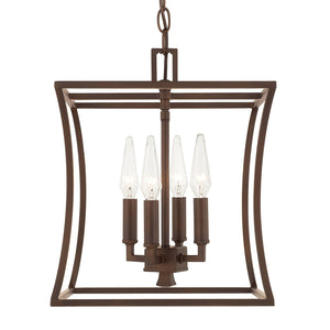 Capital Lighting Four Light Foyer Pendant 510141BB Coastal Lighting