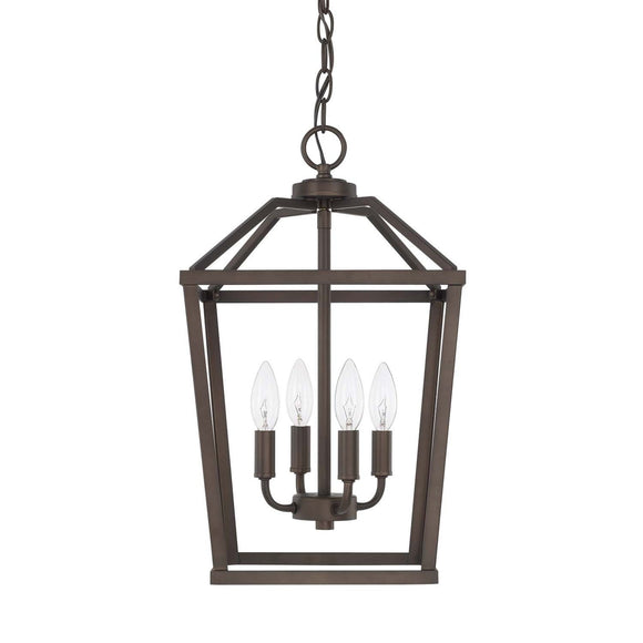 Capital Lighting Four Light Foyer Pendant 522741BZ Coastal Lighting