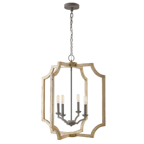Capital Lighting Four Light Foyer Pendant 530641SS Coastal Lighting