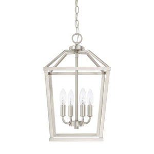 Capital Lighting Four Light Foyer Pendant 522741BN Coastal Lighting