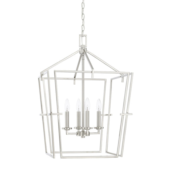 Capital Lighting Four Light Foyer Pendant 522141BN Coastal Lighting