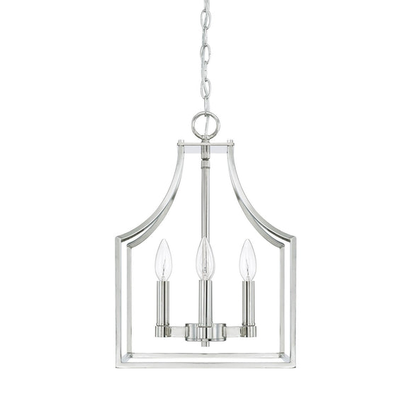 Capital Lighting Four Light Foyer Pendant 520441PN Coastal Lighting