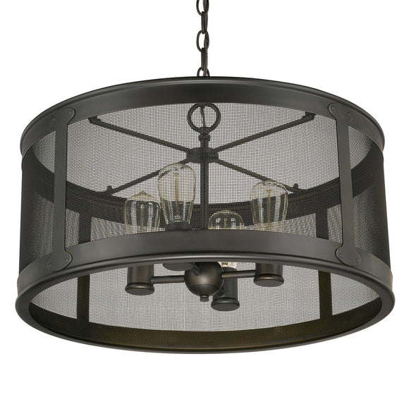 Capital Lighting Four Light Outdoor Pendant 9618OB Coastal Lighting