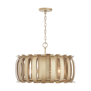 Capital Lighting Four Light Pendant 332741AP Coastal Lighting
